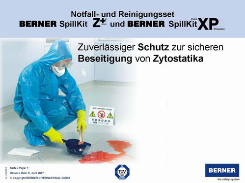 cytotoxic spill kit instructions