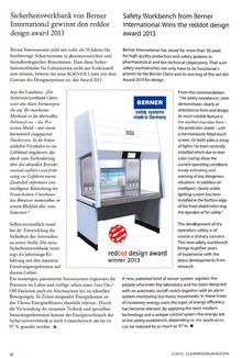Safety cabinets - Cleanroom Magazin 02/2013