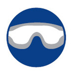 Uvex safety goggles for spectacle wearers
