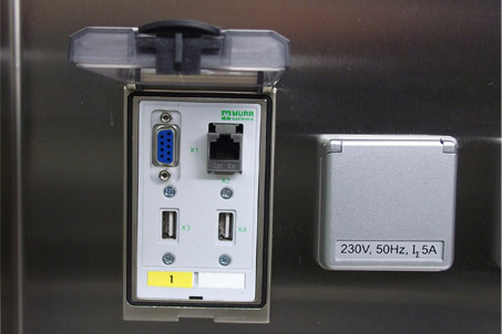 Media connections for safety cabinets