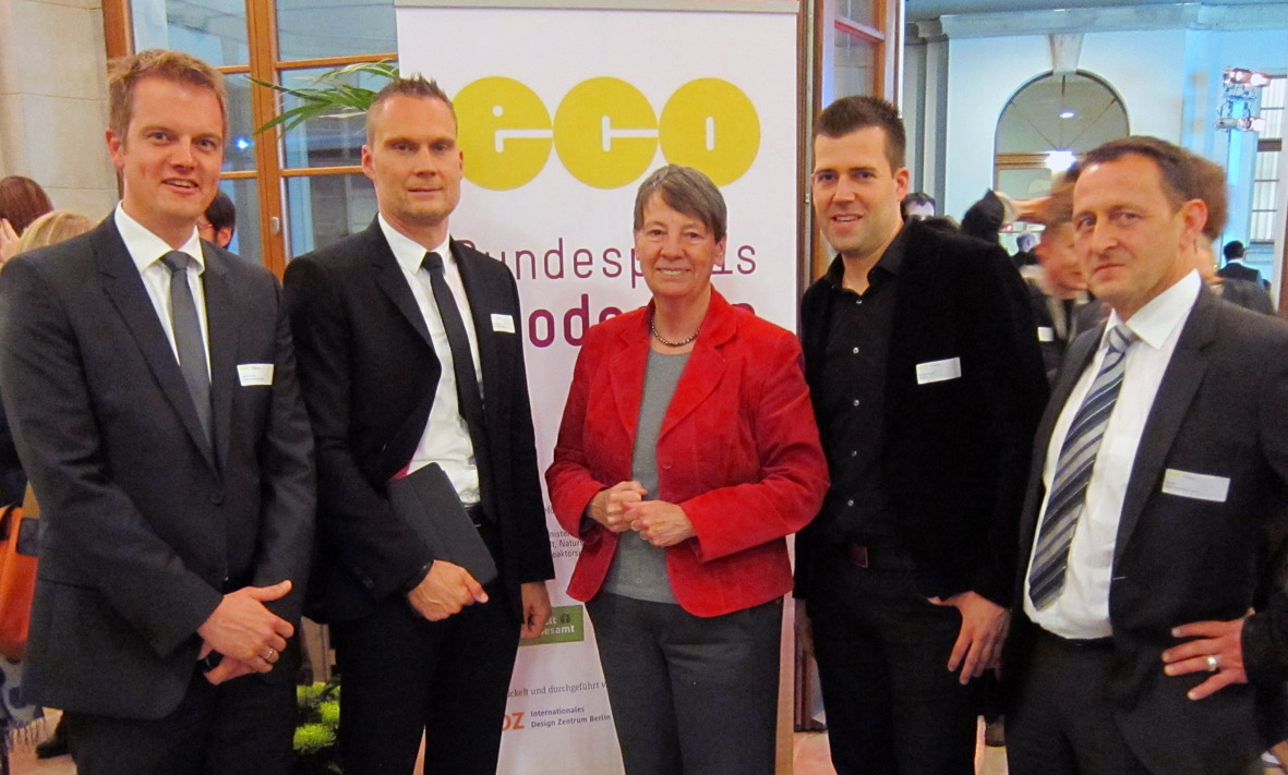 Berner International mit Bundesumweltministerin Hendricks beim Ecodesign Award 2014